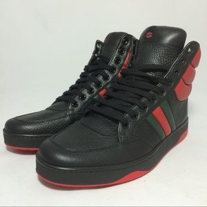 GUCCI RONNIE LEATHER HIGHTOP SNEAKERS SZ7